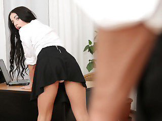 School Girl Caught Snooping